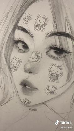 Art Drawings Sketches Simple, Pencil Art Drawings, Sketch Art, Ideas For Drawing, Hard Drawings, Cool Sketches, Arte Sketchbook, Cartoon Art Styles, Art Reference Poses