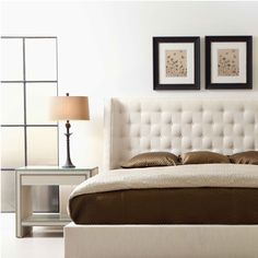 Bernhardt Interiors. Maxime Platform Wing Bed, Weston Nightstand