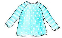 customizing the raglan sleeve T-shirt pattern: the A-line tutorial!