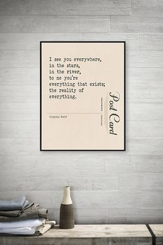 Virginia Woolf Quote Print by Monday Moon Design - Literary Art Print - Love Quote - Literary Quote - Typography - First Anniversary - 1st Anniversary