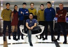 The new crew with JJ Abrams....whether you love him or hate him, the fact is he's helping to keep Star Trek alive for us true fans.