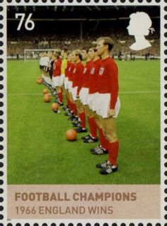 The House of Windsor 76p Stamp (2012) Football Champions 1966
