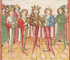 Elisabeth <Nassau-Saarbrücken, Gräfin, 1393-1456> Herpin — Stuttgart (?) - Werkstatt Ludwig Henfflin, um 1470 Cod. Pal. germ. 152 Folio 260r