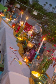 Gypsy theme party! jewel colors and candlelight!