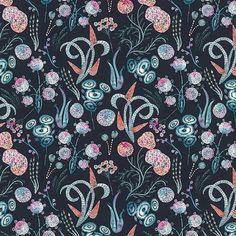 katya.rozz -  Mrch - #regrann  #floraldesign #surfacespatterns #print #pattern #art #floral #illustration