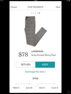 LIVERPOOL ANIKA PRINTED SKINNY PANT. ASK YOUR STITCH FIX stylist for items like this when you sign up today by clicking this picture. #sponsored #stitchfix