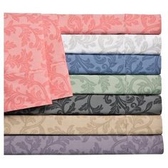 Home Styles Damask Cotton Sheet Set (Queen) White - Elite Home