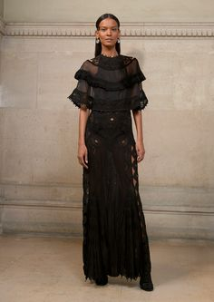 Givenchy Spring 2017 Couture: Fierce and fabulous! I like the ruffle detail and the sheer.