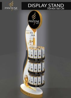 PANTENE DISPLAY STAND by Muhammad Khalil, via Behance