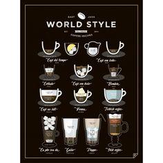 Kliknij i zobacz większe zdjęcie Plakat WORLD STYLE COFFEE - Follygraph