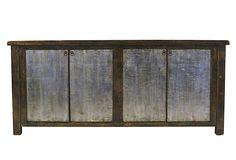 Greer 4-Door Tall Sideboard, Gold on OneKingsLane.com 81x19x36 $1699.