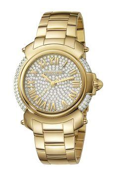 47f4f3f3bc ROBERTO CAVALLI BY FRANCK MULLER Women s Swiss Quartz Crystal Bracelet Watch  Stainless Steel Watch