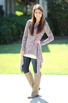 Gone with the Wind Tunic - Purple