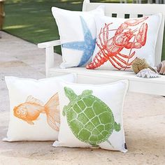 these our outdoor pillows but want something like these for the guest room