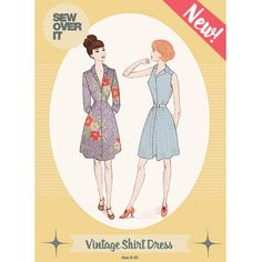 Vintage Shirt Dress Sewing Pattern - Sew Over It