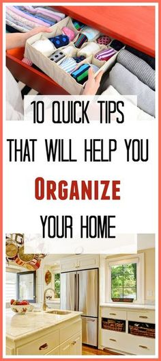 10 Quick Tips That Will Help You Organize Your Home - Throwing out and reorganizing your old items can help make space for new things, and it makes your home feel lighter and fresher. If your home could use some reorganizing, take a look at these 10 organization tips for your home. Home organization, cabinet organization, linen organization, toy organization, organized, organizing, decluttering