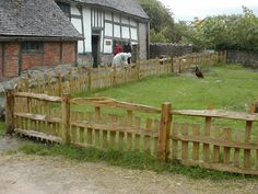 traditional scottish fence - Cleft Post and Rail Fencing.