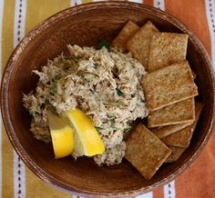 Whole Foods: Lemon Dill Tuna Recipe.  Minus the mayo.  Try Greek yogurt or just olive oil    Fresh dill!!