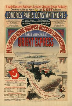Map Route - Orient Express 1888