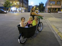 Buy a cargo bike to use for shopping and toting the kids (when it's not raining, that is)