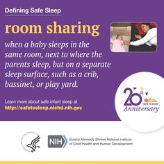 The #SafeToSleep campaign educates parents, caregivers, & health care providers about ways to reduce the risk of Sudden Infant Death Syndrome (SIDS) & other sleep-related causes of infant death. Get more information & free materials in English and Spanish at http://safetosleep.nichd.nih.gov.