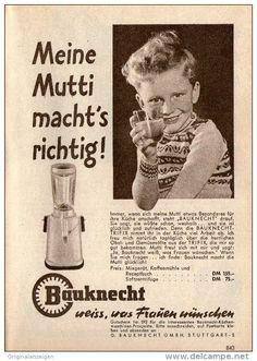Original-Werbung/ Anzeige 1958 - BAUKNECHT WEISS WAS FRAUEN WÜNSCHEN - ca. 120 x 170 mm