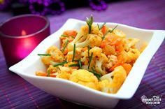 Veganer Teller: Blumenkohl-Süßkartoffel WOK   VEGAN  