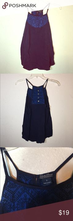 🍀LUCKY BRAND Embroidered Tank Top Lucky Brand embroidered top. Buttons on back. Worn once and in excellent condition. Lucky Brand Tops Tank Tops
