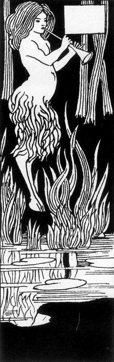 Aubrey Vincent Beardsley (21 August 1872 – 16 March 1898) Chapter-heading for Le Morte Darthur 08