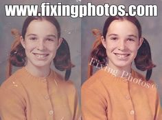 We removed the old discoloration, improved the lighting and the contrast, cleaned up any stains or damage, and sharpened the image some more. http://www.fixingphotos.com/