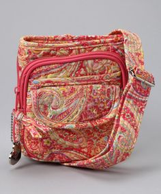 Take a look at this Paradise Paisley Mini Crossbody Bag by Donna Sharp Handbags on #zulily today!