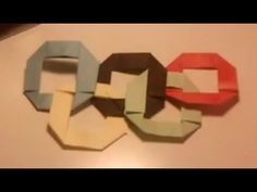 ▶ Origami Olympic Rings - YouTube