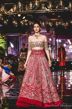Red Color Wedding Lehenga from Manish Malhotra Collection To order or customisations please contact us through WhatsApp Indian Bridal Outfits, Indian Bridal Wear, Indian Designer Outfits, Indian Dresses, Bridal Dresses, Designer Dresses, Bridal Gown, Indian Wear, Manish Malhotra Lehenga