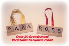 Christmas Ornament, Papa, Pops, Grandpa, Grandma, Grammy, Ornament, Gram, Scrabble Ornament, Christmas, Present toppers, Stocking Stuffers