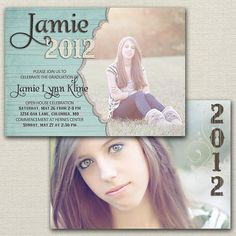 Graduation Announcement - Double Sided DIY Printable Graduation Invitation $15.00