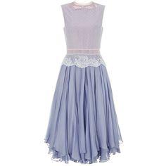 Lena Lumelsky Lavender Vintage Lace Morning Dew Dress ($1,925) ❤ liked on Polyvore