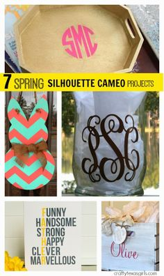 7 Spring Silhouette Cameo Projects