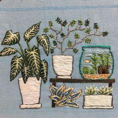 #刺繍絵 途中経過です。 #タビビトノキ の種のオブジェ と#ハオルシア の#刺繍 が出来上がりました。 これで、左側が完成です。 引き続き進めていきます。 #タビビトノキ の刺繍を していたら、途中でこの植物の 元の姿や、名前の由来やら 気になって仕方なくなり、 だいぶん脱線してました : : #植物 #オブジェ #キサントソーマリンデニー #ソフォラミクロフィラ #ソフォラリトルベイビー #メダカ #travellerstree #ドライ #ハオルチア #観葉植物 #succulents #succulove #succulent #embroidery #embroideryart #handembroidery #embroiderylicious #ちくちくくまこ