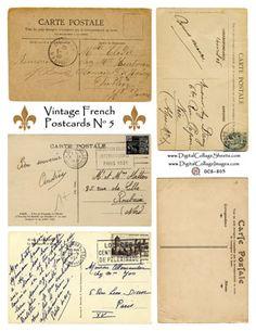 postcard collage sheet