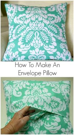 How to make an Envelope Pillow' great beginner project.