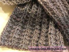 Occorrente gr. 200 di lana MISTERO trends Adriafil ferri n. 8 Punto finta costa inglese (punto double face) numero di maglie multipl...