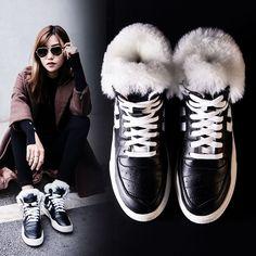LOCUS Naro Fur Lined Winter Sneakers