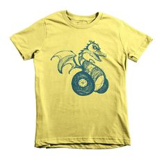 Dark Teal DragonWheels - Short sleeve kids t-shirt