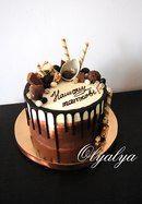 Birthday Cake Simple Dads 54 Ideas For 2019 18th Birthday Cake For Guys, Happy Birthday Cakes, Cake Birthday, Chocolate Birthday Cake Decoration, Birthday Cake Decorating, Drippy Cakes, Tall Cakes, Round Cakes, Chocolate Oreo Cake