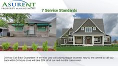 7 Service Standards - propertymanagementashlandoregon  We guarantee our Tenants for 6 months! If a Tenant we place ends up leaving within the first 6 months, we will pay for all costs of marketing and showing the property to find a new Tenant. WE WILL NOT charge you a lease up fee. Visit Us : http://www.propertymanagementashlandoregon.com/