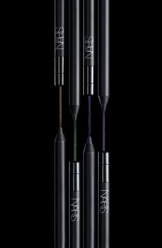 NEW! NARS 'Night Series' Eyeliner(Night Caller Collection) in Night Bird | Nordstrom $24.00 lights up the night with luminous micropearls of blue, purple, green and gold suspended in jet-black color that glide smoothly onto your eyelids in one stroke of brilliance.