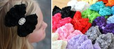 $6.25 Rosette Rhinestone Bow Clips Sassy Steals - A Daily Boutique & Handmade Deal Website + Weekly Giveaways