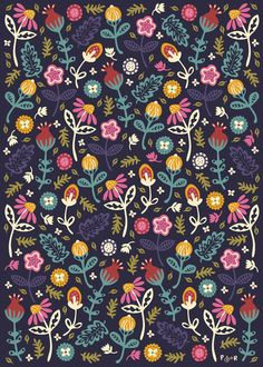 Yet another wonderful floral print by Anna Deegan