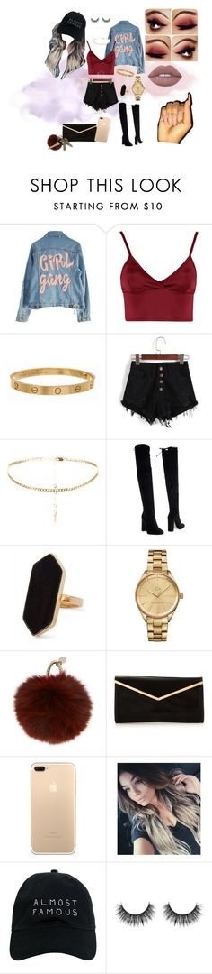 """""""Untitled #10"""" by lei-baez on Polyvore featuring High Heels Suicide, Lipsy, Cartier, Bianca Di, Jaeger, Lacoste, Yves Salomon, Nasaseasons, Avon and Lime Crime"""