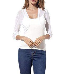 Chic Womens Lace Shrug Short Sleeve Sheer Bolero Cardigan for Women Dresses  Jacket online.   2f508229c